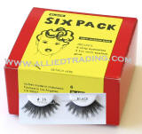 Style # 16, 6 pack strip lashes in bulk, wholesale cheap bulk eyelashes, discount natural false eyelashes, sold in pack quantity,