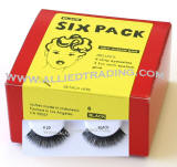 Style # 20, 6 pack strip lashes in bulk, wholesale cheap bulk eyelashes, discount natural false eyelashes, sold in pack quantity, 3 1cc mini eyelash glue included