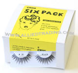 wholesale cheap eyelashes in bulk, upper eyelashes, wholesale eyelash extensions, discount natural false eyelashes, 6 pack, sold in pack quantity, 3 1cc mini eyelash glue included.