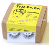 Item # BEM412, 6 pack eyelashes in Bulk, human hair lashes, upper lashes, Wholesale false eyelashes, wholesale eyelash extensions, sold in pack quantities
