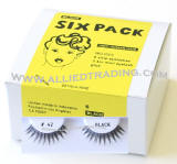 eyelash # 42, wholesale cheap eyelashes in bulk, upper eyelashes, low cost eyelash extensions, discount natural false eyelashes, 6 pack, sold in pack quantity,