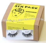 eyelash # 43, wholesale cheap eyelashes in bulk, upper eyelashes, low cost eyelash extensions, discount natural false eyelashes, 6 pack, sold in pack quantity, made in Indonesia