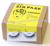 eyelash # 46, wholesale cheap eyelashes in bulk, upper eyelashes, low cost eyelash extensions, discount natural false eyelashes, 6 pack, sold in pack quantity