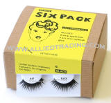 eyelash # 47, bulk false eyelashes in bulk, 100% human hair eyelashes, discount faux eyelashes, 6 pack, sold in pack quantity