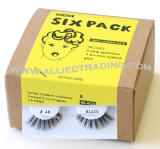 eyelash # 48, bulk false eyelashes in bulk, 100% human hair eyelashes, discount faux eyelashes, 6 pack, sold in pack quantity
