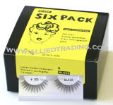 Discount eyelash extensions, 6 pack eyelashes in Bulk, human hair lashes, top eyelashes, Wholesale false eyelashes