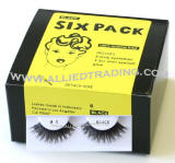 Style # BEM5, Bulk eyelashes six pack, natural false eyelashes, sold in 6 pack, 3 1cc mini eyelash glue included.