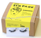 Demi wispies, d wispy eyelashes, False eyelash extensions, 6 pack bulk eyelashes, item # BEMDWSP, human hair eyelashes, upper eyelashes, wholesale strip eyelashes, sold in pack quantities