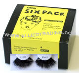 longest thickest eyelashes, False eyelash extensions, 6 pack bulk eyelashes, item # BEMTL199, upper eyelashes, wholesale strip eyelashes, sold in pack quantities