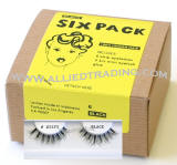 wispies, wispy eyelashes, False eyelash extensions, 6 pack bulk eyelashes, item # BEMWSP, human hair eyelashes, upper eyelashes, wholesale strip eyelashes, sold in pack quantities