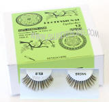 Brown eyelashes in bulk, Look natural, Human hair, Low cost.
