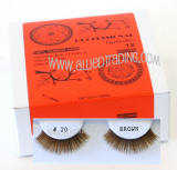 ITEM # BEK20BR, Brown false eyelashes, Natural look brown lashes.