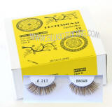 Wholesale eyelashes brown color, bulk brown elashes, # BEK213BR, Human hair.