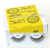 Wholesale eyelashes brown color, bulk brown elashes, # 218 BR, Human hair.