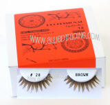 ITEM # BEK28BR, Brown false eyelashes, Natural look brown lashes.