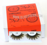 Wholesale brown false eyelashes, Natural look brown lashes. Eyelash supplier Allied Trading, Los Angeles, California
