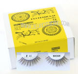 Wholesale brown false eyelashes, Natural look brown lashes.