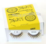 Elegant look brown false lashes, Natural hair, Cheap & reliable.  Wholesale distributor,  Allied Trading, Los Angeles, CA 90057