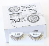 Human hair brown fake lashes, bulk brown upper lashes, Human hair