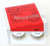 Human hair brown fake lashes, bulk brown upper lashes,