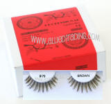 Wholesale human hair eyelashes, Brown color