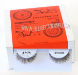 # 747 XS bulk brown eyelashes, Wholesale brown false eyelashes, Reliable & elegant, Human hair.