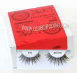 Wholesale human hair eyelashes, Brown color, Look fabulous, Cheap & reliable. Wholesale distributor,