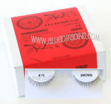 Wholesale human hair eyelashes, Brown color, Look fabulous, Cheap & reliable. Wholesale distributor, Allied Trading