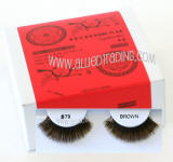 Wholesale human hair eyelashes, Brown color, Look fabulous, Cheap & reliable. Wholesale distributor