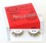 Wholesale human hair eyelashes, Brown color, Look fabulous, Cheap & reliable
