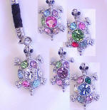 CEK52 TURLTE CELL PHONE CHARM AND STRAP