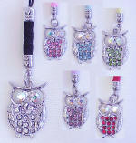 CEK57 OWL CELL PHONE CHARM AND STRAP