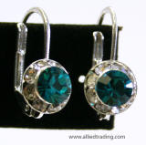 Item # AR1100 Swarovski Hoop Earrings, 8mm