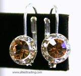 AR1105 Swarovski Lever back Earrings, 8mm, Allied Trading, Los Angeles