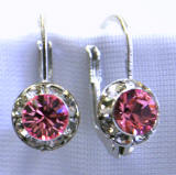 AR1113 swarovski hoop earrings, 8mm