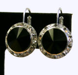 swarovski rondelle lever back earrings, 15mm silver