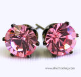 swarovski tulip inspired prong set earrings, 10mm, antique mood frame, offers from allied trading
