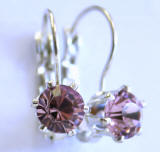 6 Prong Set Swarovski Leverback Earrings