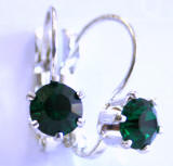 AR225 6 Prong Set Swarovski Crystal Leverback Earrings, www.alliedtrading.com