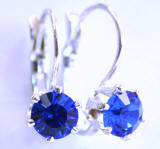 AR227 6 Prong Set Swarovski Lever back Earrings