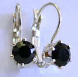 AR229 Prong Set Swarovski Crystal Leverback Earrings