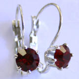 AR234 6 Prong Set Swarovski Leverback Earrings