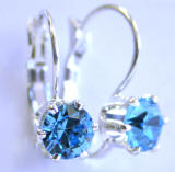 AR235 6 Prong Set Swarovski Leverback Earrings