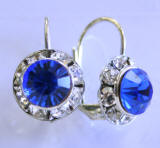 AR236 Austrian Crystal Leverback Earrings