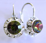 AR238 Swarovski Leverback Earrings, 11mm