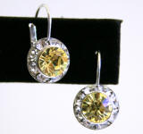 Item # AR241 Swarovski Lever Back Earrings, 11mm