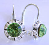 AR245 Swarovski Leverback Earrings, 11mm