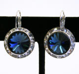 Swarovski Crystal Lever Back Earrings