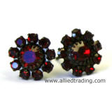 Swarovski Siam Stud Earrings