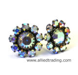 Swarovski Crystal AB Stud Earrings, CE109L series